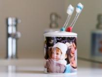 Portaspazzolino stampa su ceramica