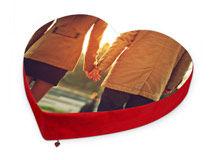 pouf cuscino cuore