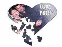 Puzzle de corazón aniversario