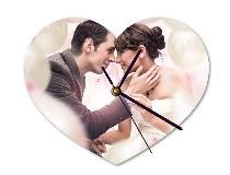 Reloj de pared en forma de corazón