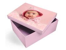 scatola giocattoli con foto