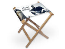 Sgabello in legno personalizzato con foto