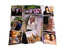 Stampa coperta pile con collage