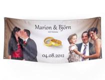 stampa striscione nomi sposi