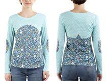 T-Shirt maglietta a manica lunga da donna personalizzata