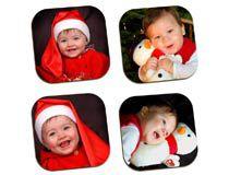 Untersetzer Baby Weihnachtsmütze Nikolausgeschenk