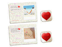 Valentine's Day Surprise Dinner Placemats Set