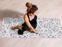 yogamatta med tryck