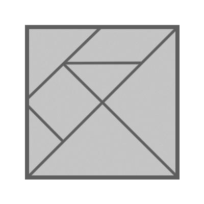 20cm square tangram