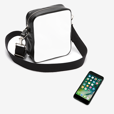 19cm x 23cm x 6.5cm. Fits phone / wallet  / sunglasses / charger / passports