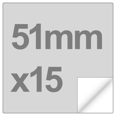 sticker size and shape - 51mm square, matte, x15