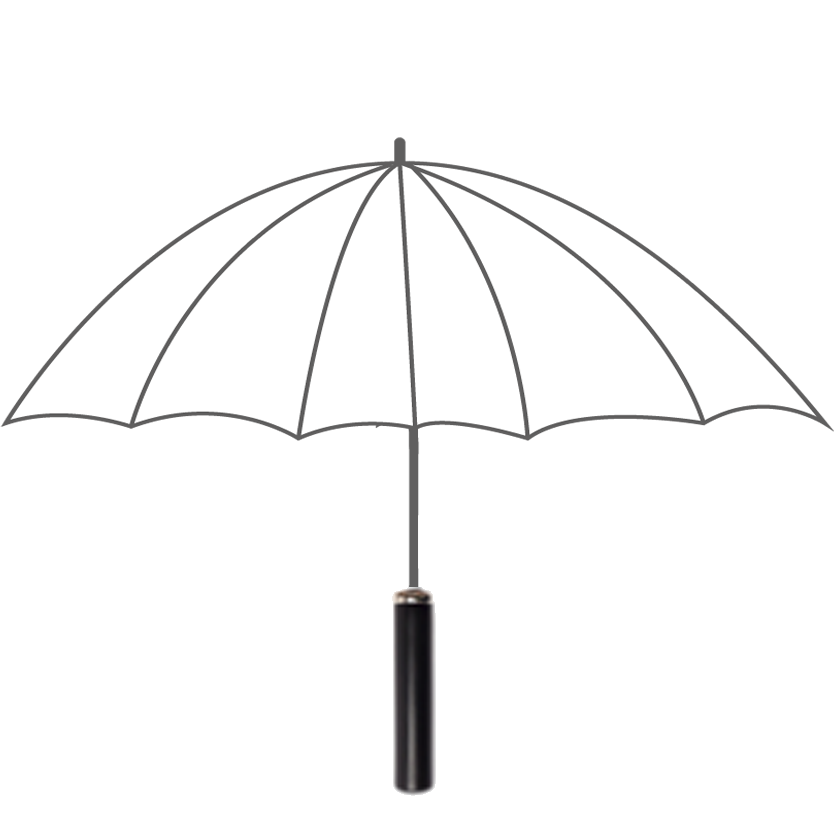 Golf Umbrella 75cm rib