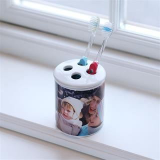 baby toothbrush holder with photos