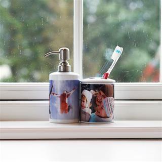 porta spazzolino con foto
