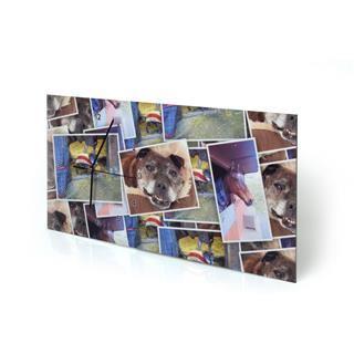 Reloj de pared personalizado rectangular con fotomontaje