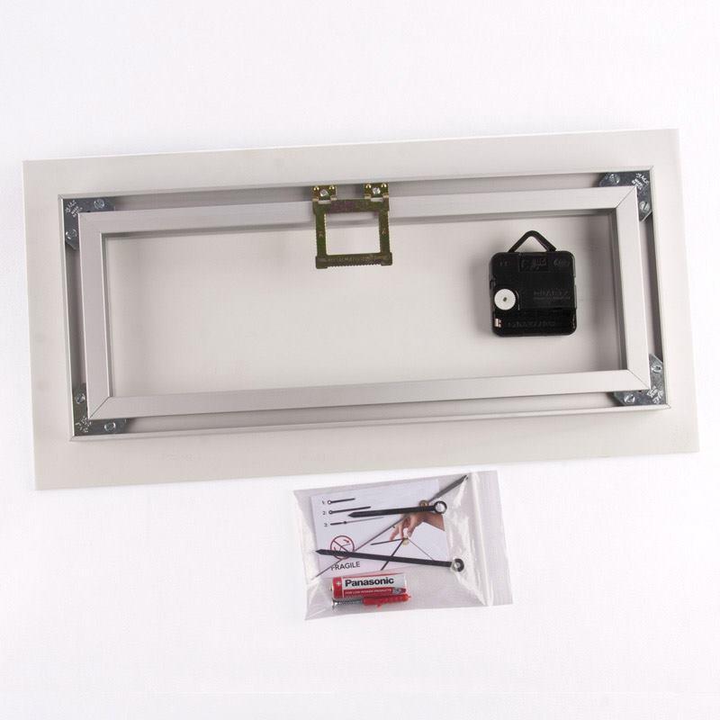 horloge murale personnalis e horloge rectangulaire. Black Bedroom Furniture Sets. Home Design Ideas