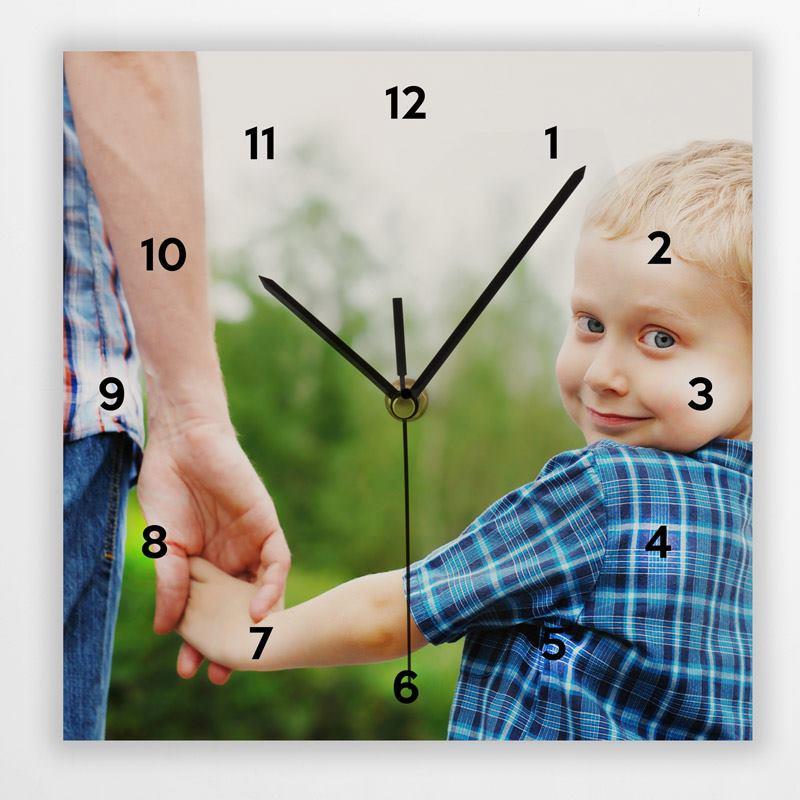 Horloge murale personnalis e horloge rectangulaire - Horloge murale personnalisable ...
