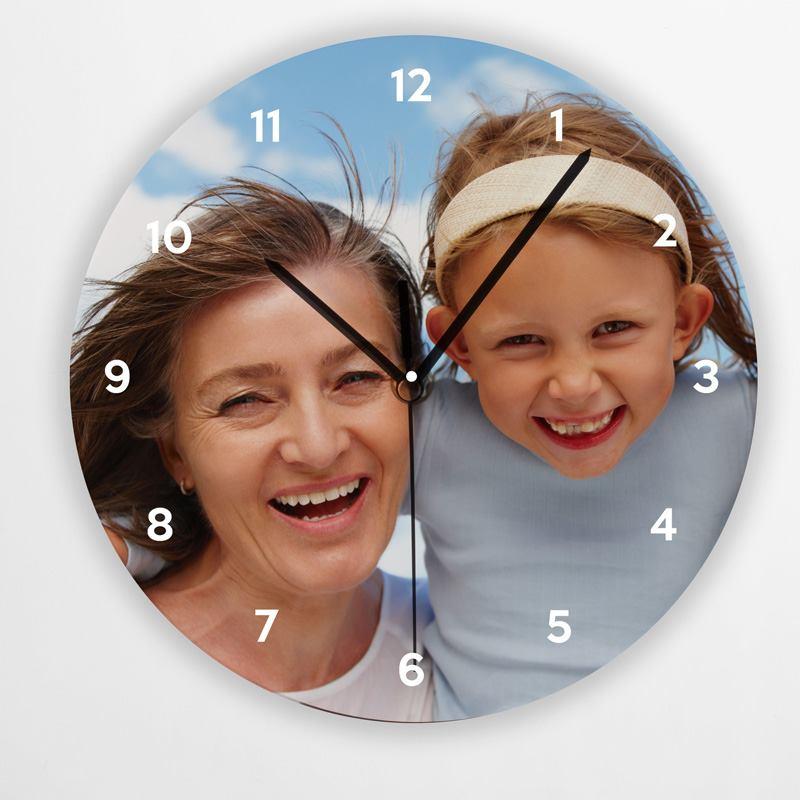 Custom Printed Round Clock mum
