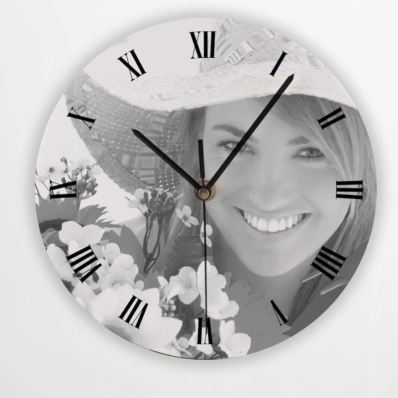 Orologio personalizzato rotondo da parete stampa con for Foto orologio da parete