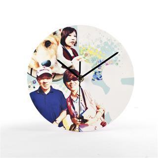 orologio rotondo da muro con foto