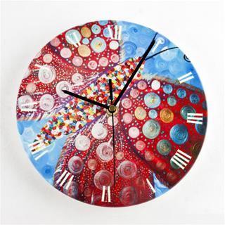 Custom Printed Round Clock funky style