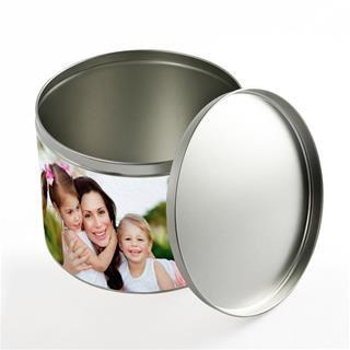 photo round tin
