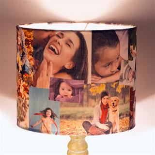personalised lamp shades with light