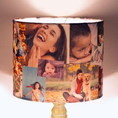 Rund lampskärm med eget tryck