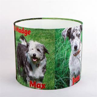 printed lamp shades with dog photo