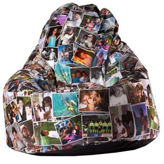Sitzsack bedrucken lassen Foto und Text