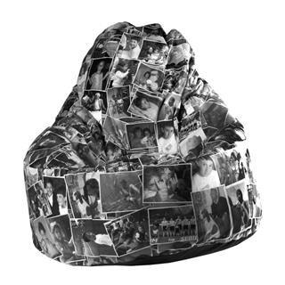 Sitzsack selbst gestalten schwarz weiß Collage