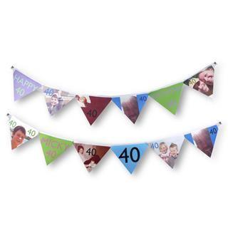 festone compleanno 40 anni personalizzato