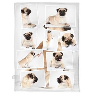 pug design dog blanket personalised