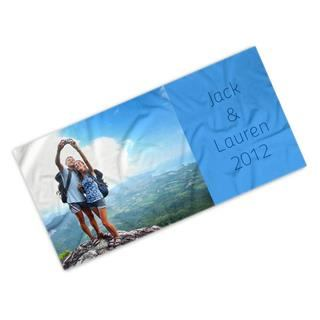 holiday photo towel printed design