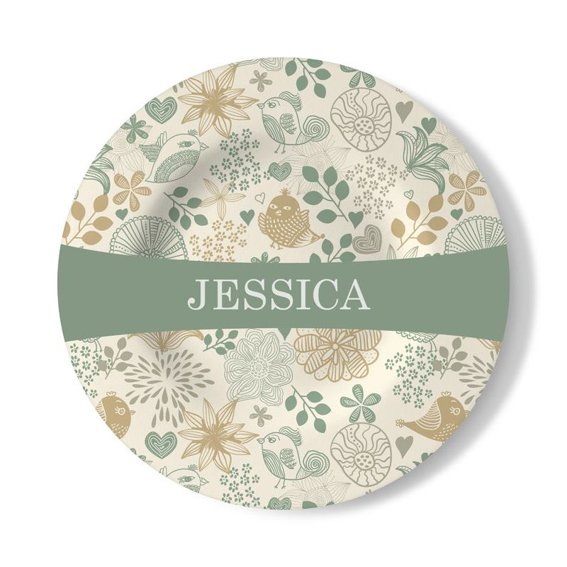 ... Print Name On Decorative Wall Plate ...