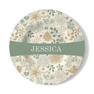 print name on decorative wall plate