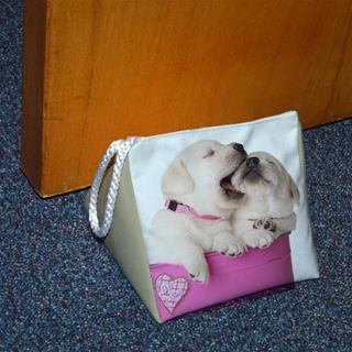 personalised door stops with puppy