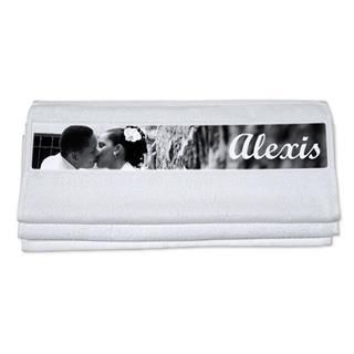 asciugamani con nome e foto