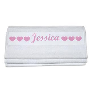serviettes de toilette personnalis es impression sur serviettes. Black Bedroom Furniture Sets. Home Design Ideas