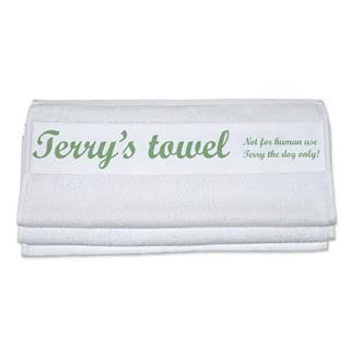asciugamani con proprio nome