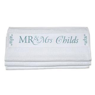 asciugamani con iniziali