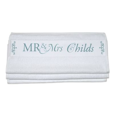 Mr & Mrs 2nd Anniversary Towel