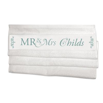 asciugamani con nome e iniziali