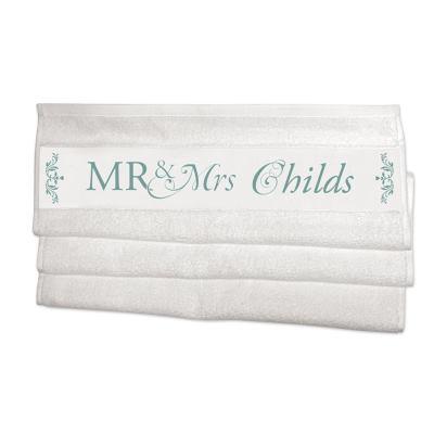 Herr & Fru handdukar med eget tryck