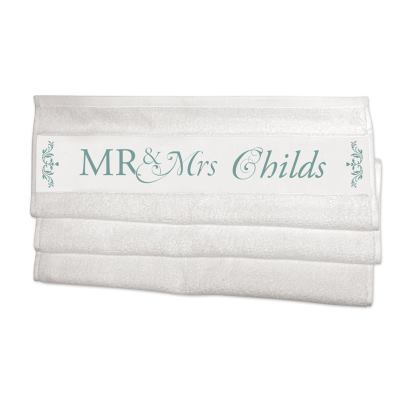 mr and mrs towels custom made