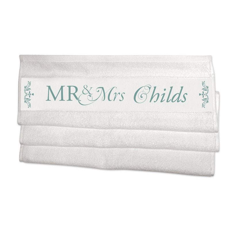 personalised towels wedding gift