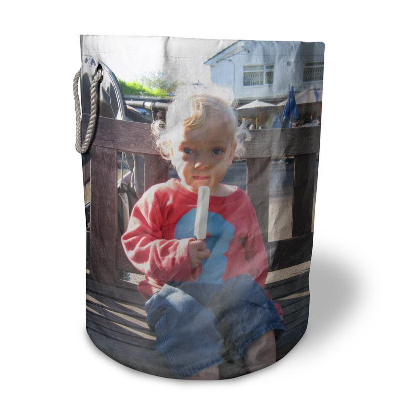 cesta portagiochi personalizzata con foto