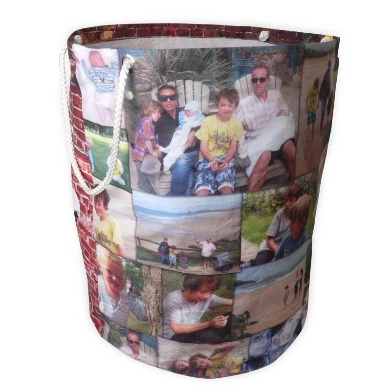 cesta portagiochi collage foto