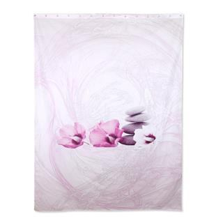 pink long shower curtain
