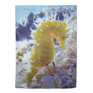 extra long shower curtain seahorse design